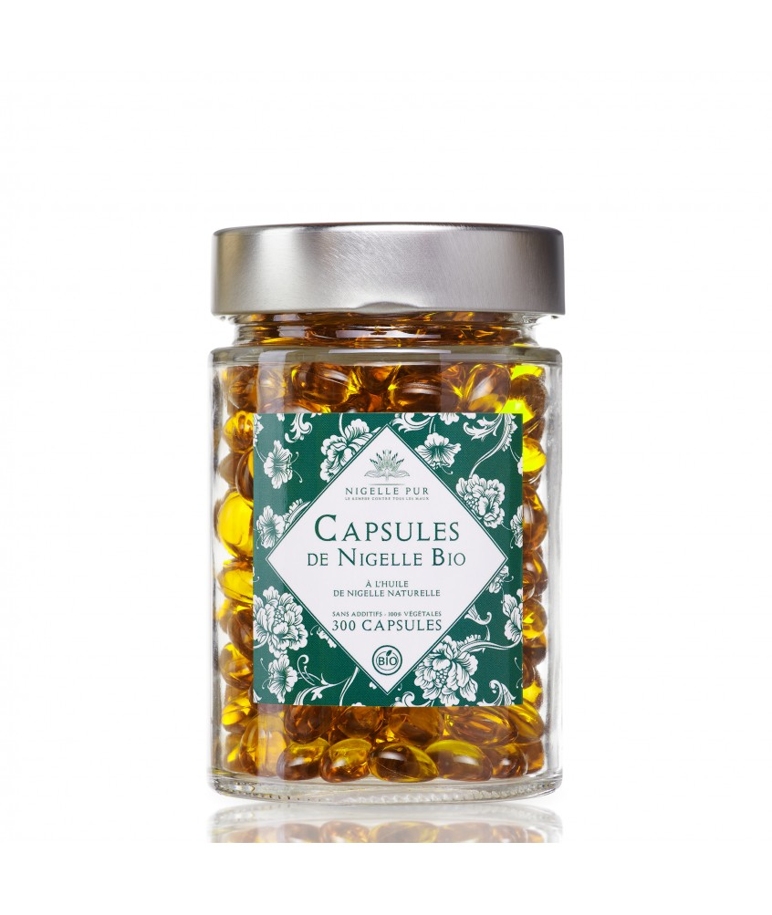 300 Capsules Bio d'huile de Nigelle