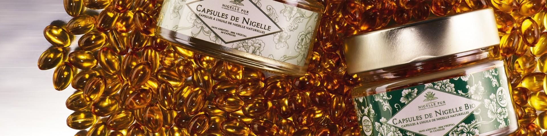 Découvrez notre gamme de capsules à base de nigelle de pure qualité
